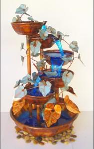 Copper fountain hand made 5 bowl, 5 feet tall