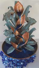 Calla Lily Table Top Copper Fountain