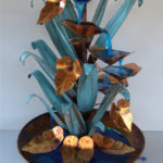 Copper Water Fountain Table Top Spiral