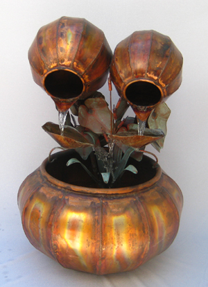 Copper Water Fountains Fern Bowl Designs