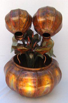 Copper Water Fountain Medium Fern Bowl
