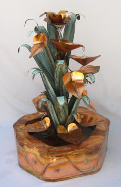 Copper Water Fountains Double Wall Base Designs