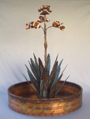 Medium Agave Copper Water Fountain