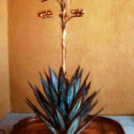Hand Made copper water fountain Agave Cactus